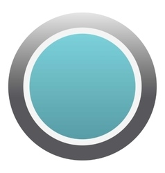 Blue round button icon flat style vector