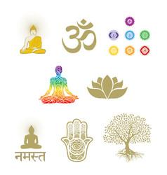 Buddhism and meditation vector