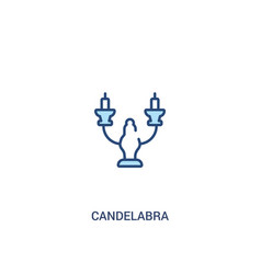 Candelabra concept 2 colored icon simple line vector