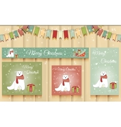 Christmas set of web banners vector