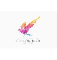 Color bird Rainbow logo Colorful logo design vector image