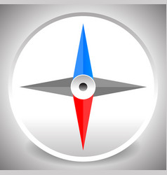Compass icon dial of a compass with 4-way vector