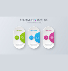 Contemporary minimalist infographic design vector
