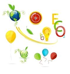 creative nature and eco symbols set vector image vector image