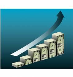 Dollar bar graph vector