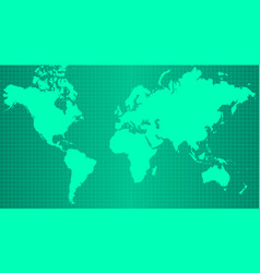 earth map on trendy green gradient background vector image