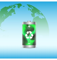 eco battery 2 vector image