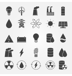 Energy industry icon set vector image