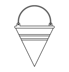 Fire bucket icon outline style vector