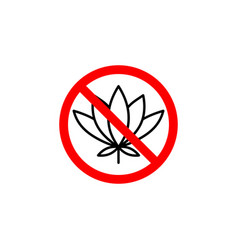 forbidden flower icon can be used for web logo vector image