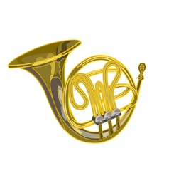 French horn woodwind musical instrument vector image