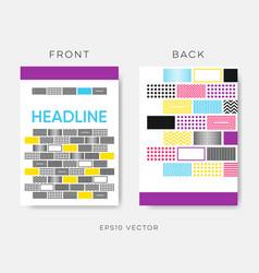 geometrical brochure design vector image