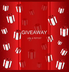 Giveaway gift box vector