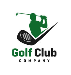 golf sports logo design vector image