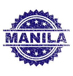 Grunge textured manila stamp seal vector