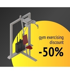 Gym exercise machine training device vector image