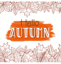 hello autumn border vector image