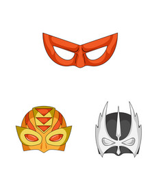 hero and mask logo vector image