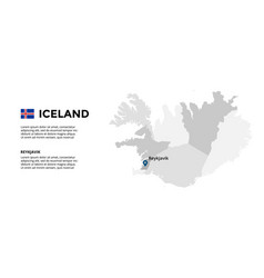 Iceland map infographic template slide vector