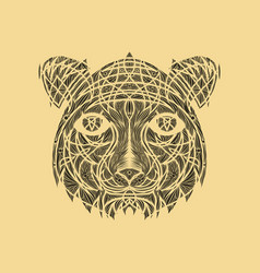 icon in a flat style abstract tiger vector image