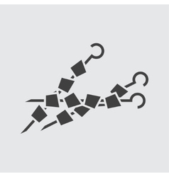 Kebab skewer icon vector