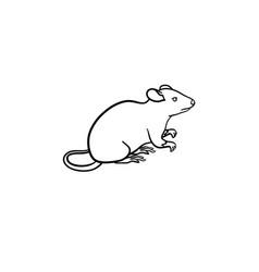 lab rat hand drawn sketch icon vector image