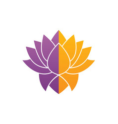 Lotus flower beauty colored logo vector
