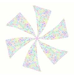 Mosaic flower vector image