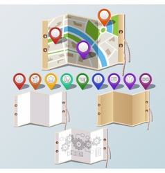 Navigation and paper set vector