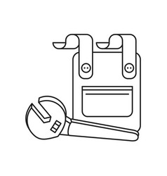 Overall uniform with wrench tool vector