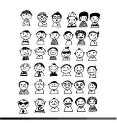 People face cartoon icon design vector