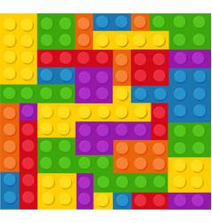 plastic construction blocks vector image