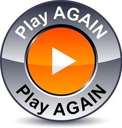 Play again round button vector