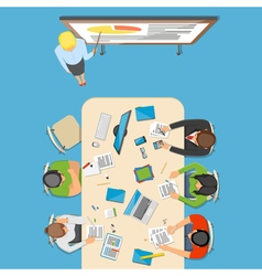 Professions Top View Composition vector image