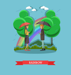 Rainbow concept in flat style vector