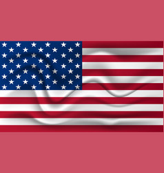 realistic flag of the united states of america vector image