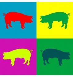 Retro pigs vector