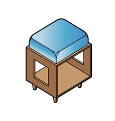 Short stool chair vector