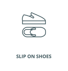 slip on shoes line icon linear concept vector image