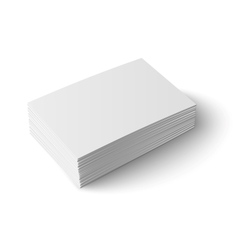 Stack of blank business card vector image