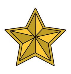 stars award symbol isolated vector image