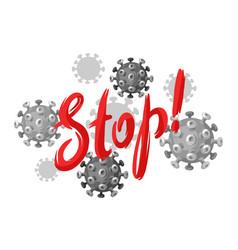 Stop covid19-19 background with coronavirus vector
