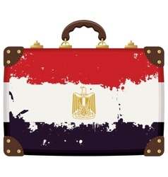 Suitcase with a Egyptian flag vector