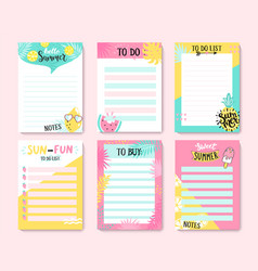 templates for notes to do and buy lists vector image