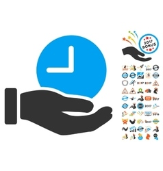 Time Service Icon With 2017 Year Bonus Pictograms vector
