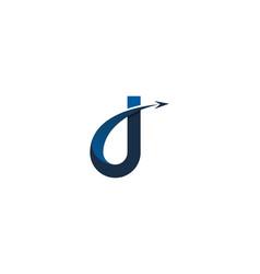 Travel letter j logo icon design vector