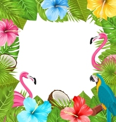 Tropical Frame Made in Beautiful Plants vector