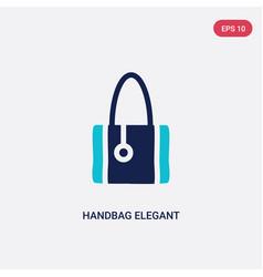 two color handbag elegant de icon from fashion vector image