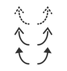 Undo redo icon template design vector