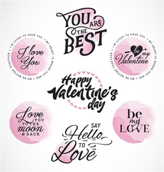 Valentines Day Typography Designs vector